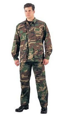 camouflage bdu fatigues from this army navy store